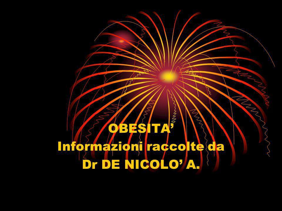 OBESITA Informazioni raccolte da Dr DE NICOLO A.
