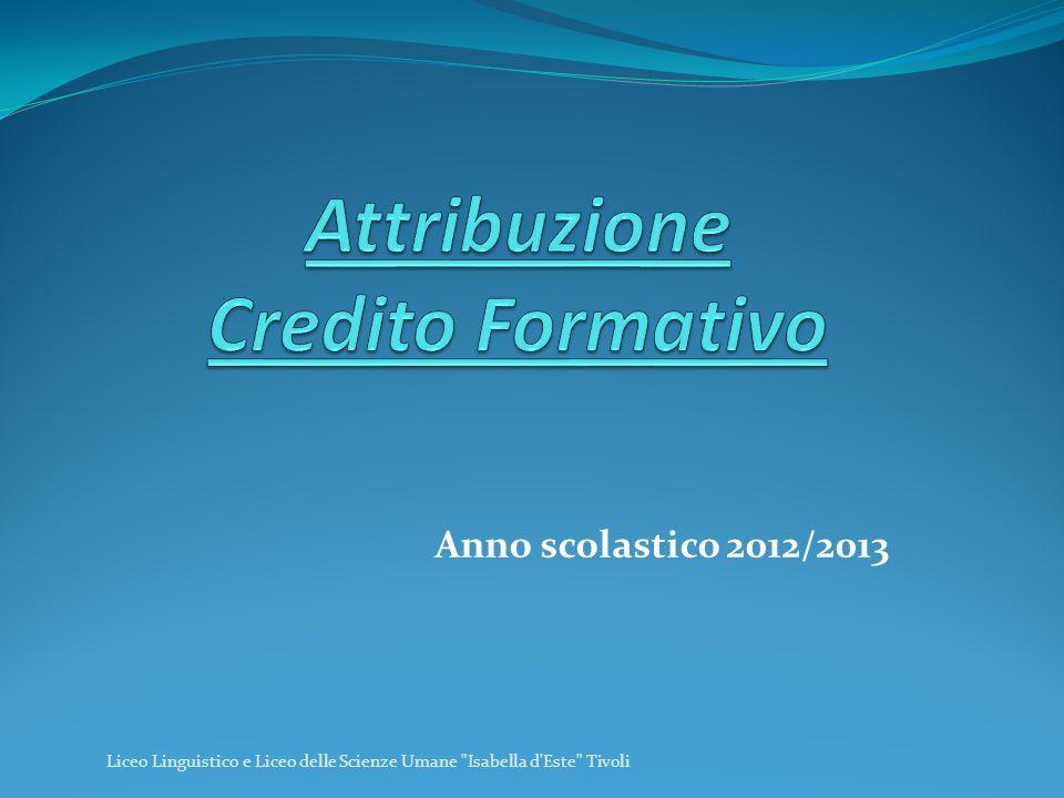 Anno scolastico 2012/2013 Liceo Linguistico e Liceo delle Scienze Umane