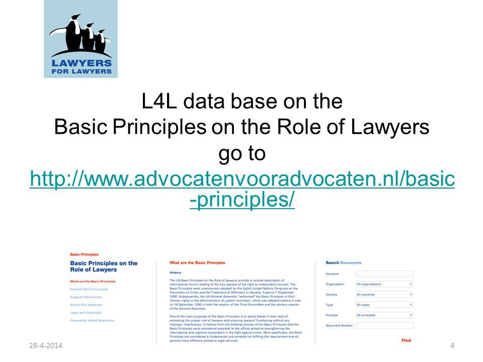 Principi di base sul ruolo degli avvocati Basic Principles on the Role of Lawyers Principle 12 Norma n.12 Gli avvocati devono tenere alto in ogni momento lonore e la dignità della loro professione, in quanto rappresentanti dellamministrazione della giustizia.