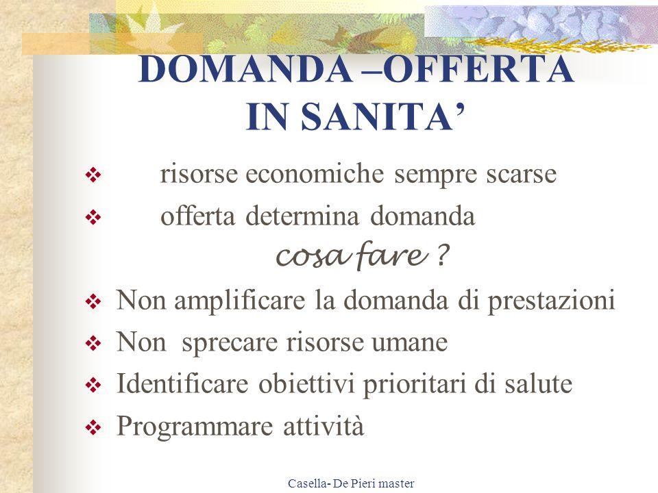 Casella- De Pieri master Gestione delle assenze Vi sono 2 modalità di gestione delle assenze: 1.