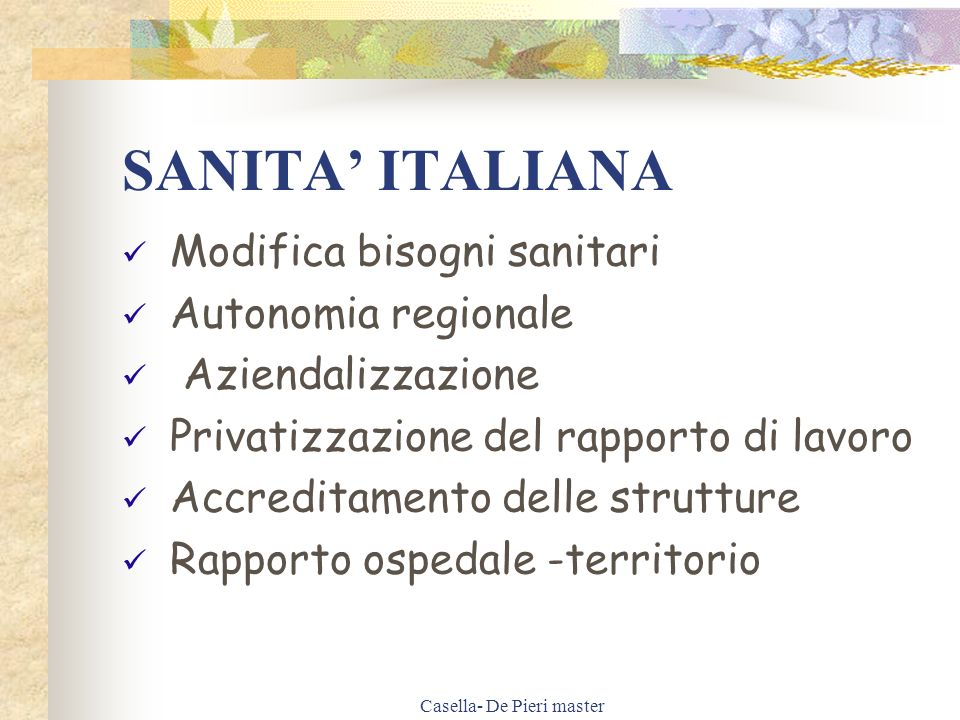 Casella- De Pieri master I.