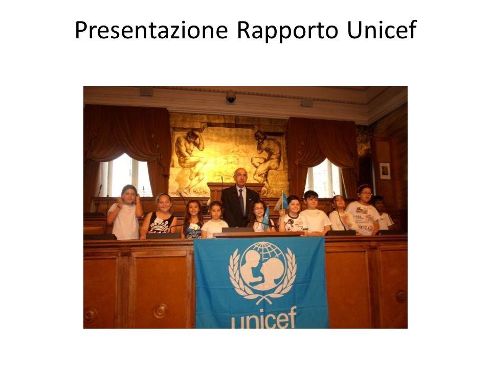 Presentazione Rapporto Unicef