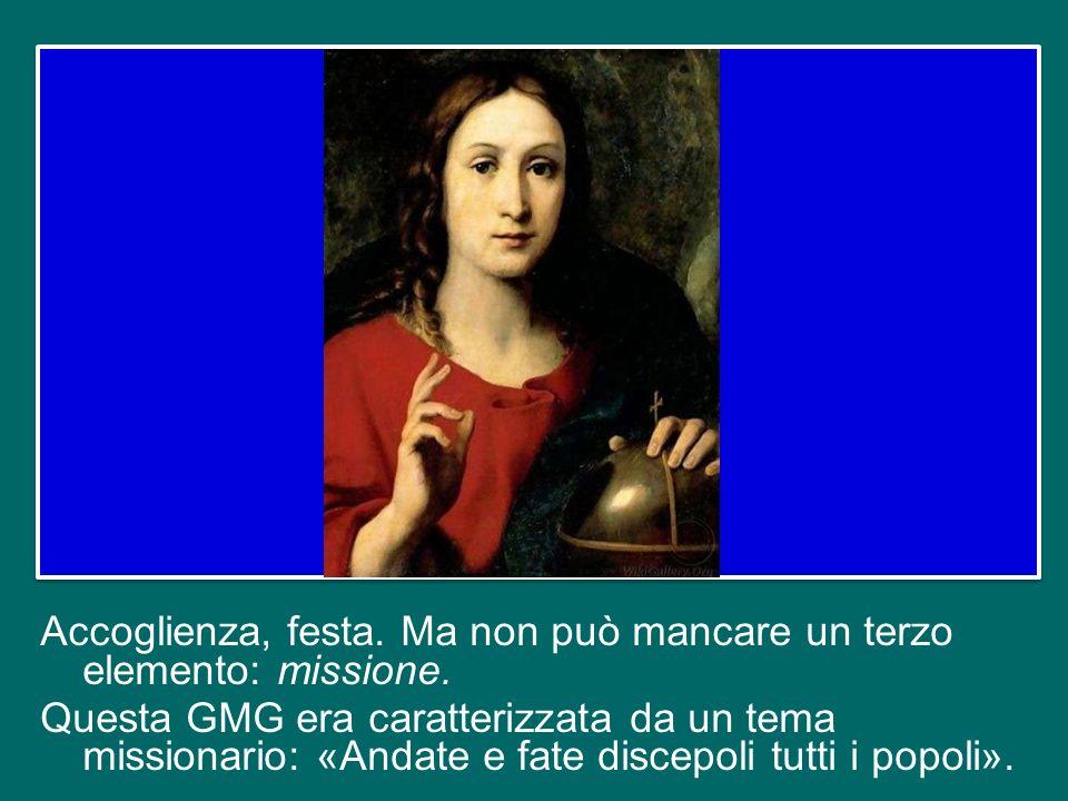 tutto questo è il culmine della GMG, è il vero scopo di questo grande pellegrinaggio, e lo si vive in modo particolare nella grande Veglia del sabato sera e nella Messa finale.