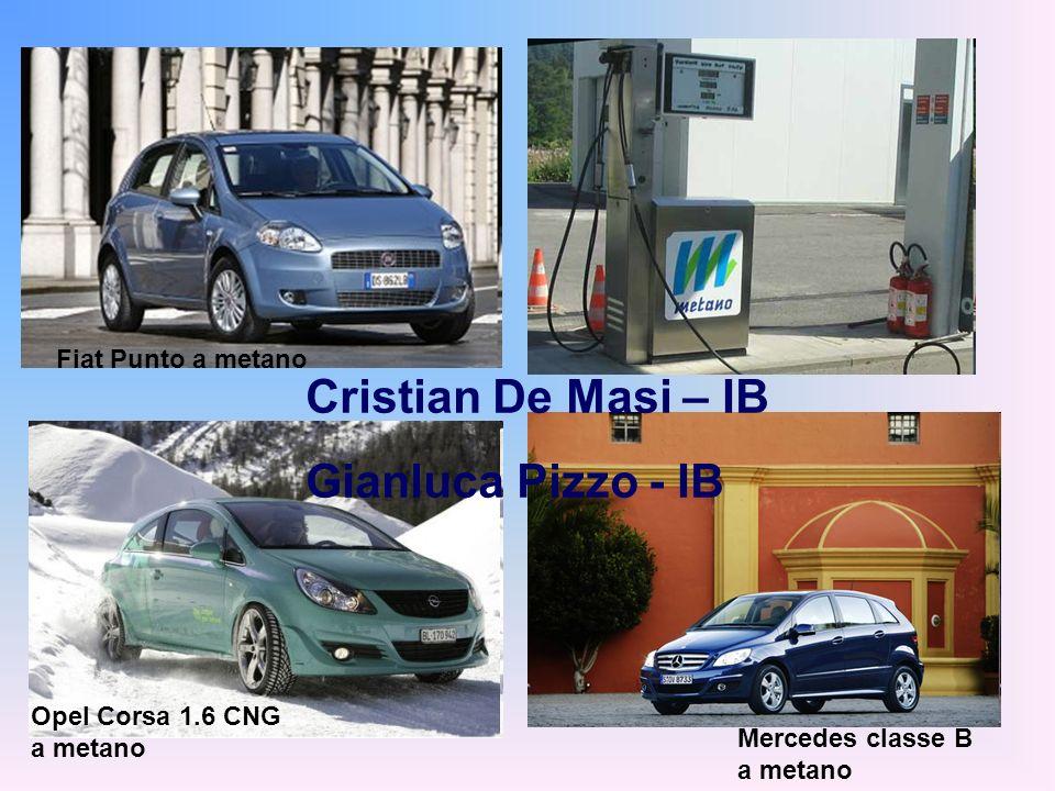 Opel Corsa 1.6 CNG a metano Mercedes classe B a metano Fiat Punto a metano Cristian De Masi – IB Gianluca Pizzo - IB