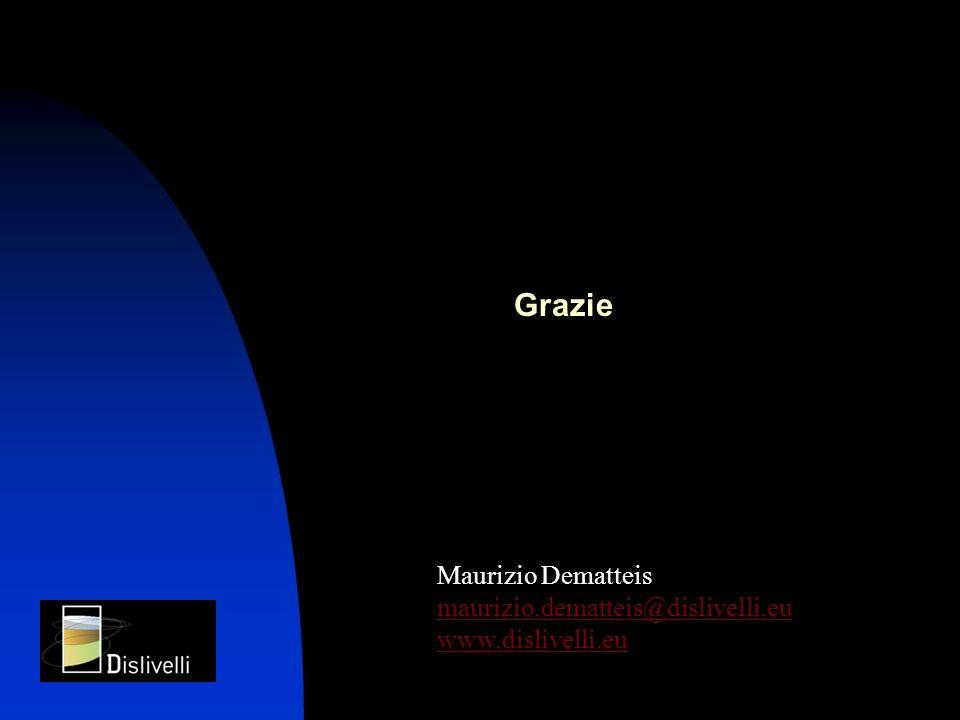 Maurizio Dematteis maurizio.dematteis@dislivelli.eu www.dislivelli.eu Grazie