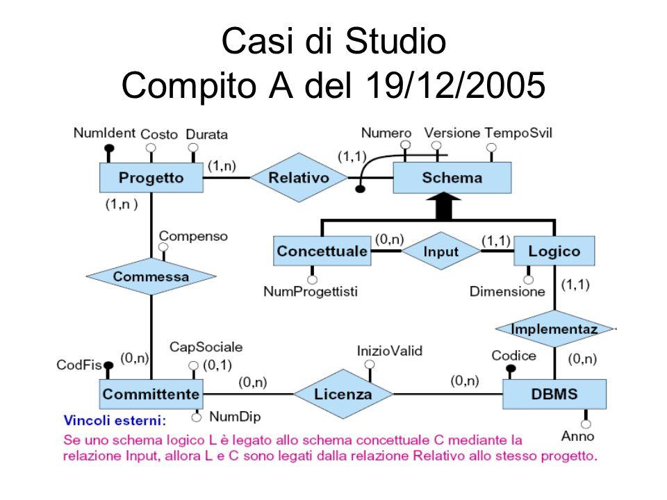 Casi di Studio Compito A del 19/12/2005