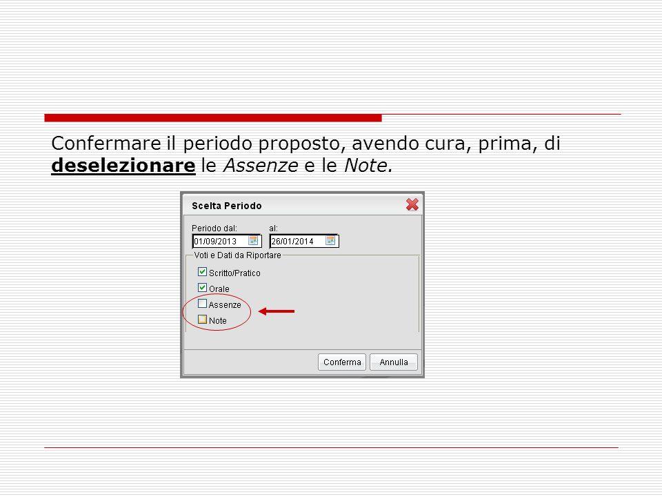 Stampa del Verbale (Coordinatori) Cliccare sulla voce Scrutini intermedi del menù Stampe: