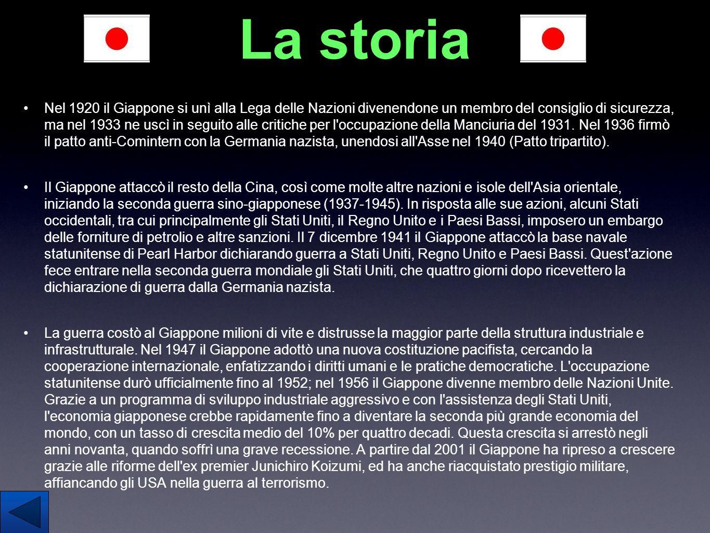 La storia Nel 1920 il Giappone si unì alla Lega delle Nazioni divenendone un membro del consiglio di sicurezza, ma nel 1933 ne uscì in seguito alle cr