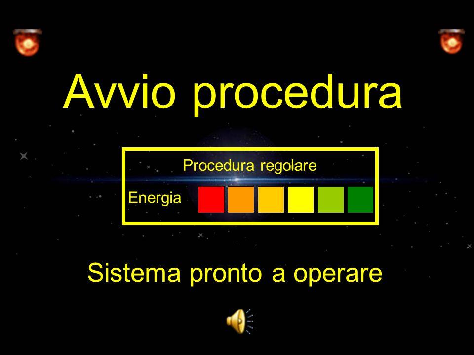 Avvio procedura Sistema pronto a operare Energia Procedura regolare