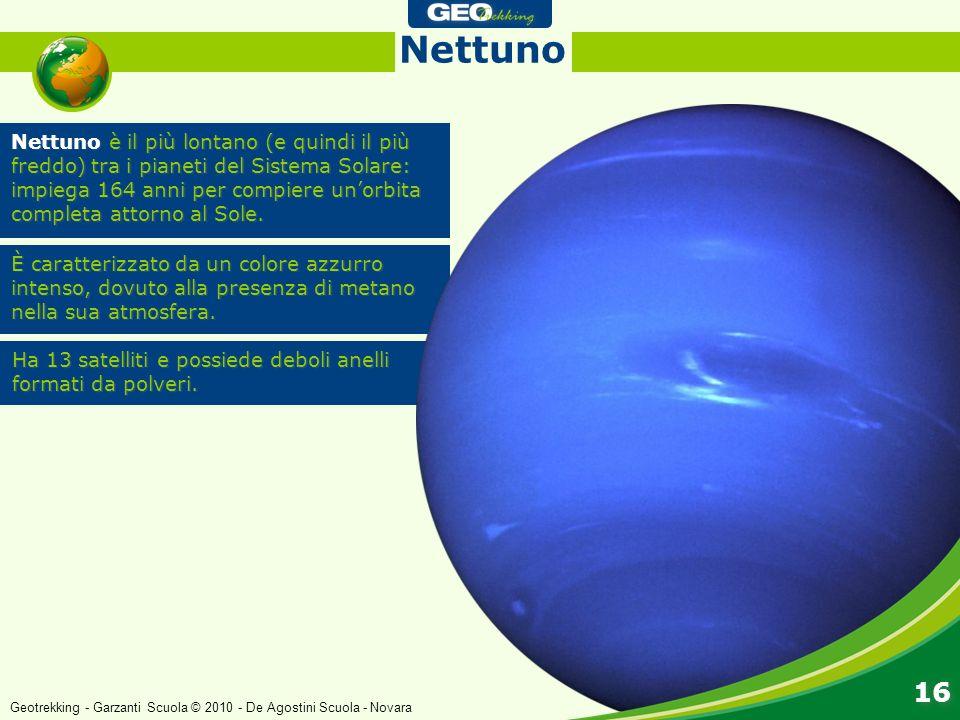 Nettuno è il più lontano (e quindi il più freddo) tra i pianeti del Sistema Solare: impiega 164 anni per compiere unorbita completa attorno al Sole. È