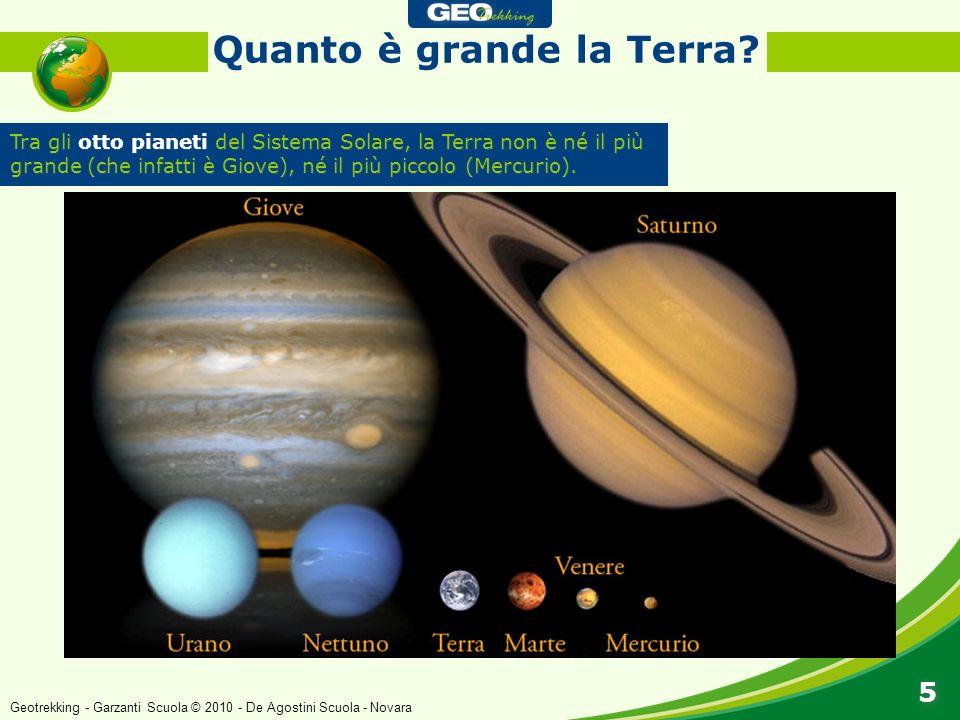 Tra gli otto pianeti del Sistema Solare, la Terra non è né il più grande (che infatti è Giove), né il più piccolo (Mercurio). Quanto è grande la Terra