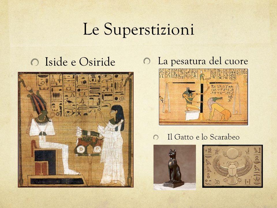 Le Superstizioni La pesatura del cuore Il Gatto e lo Scarabeo Iside e Osiride