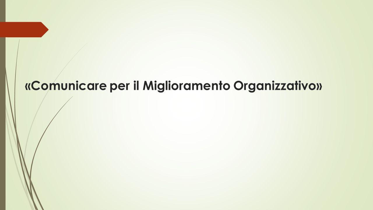 «Comunicare per il Miglioramento Organizzativo»