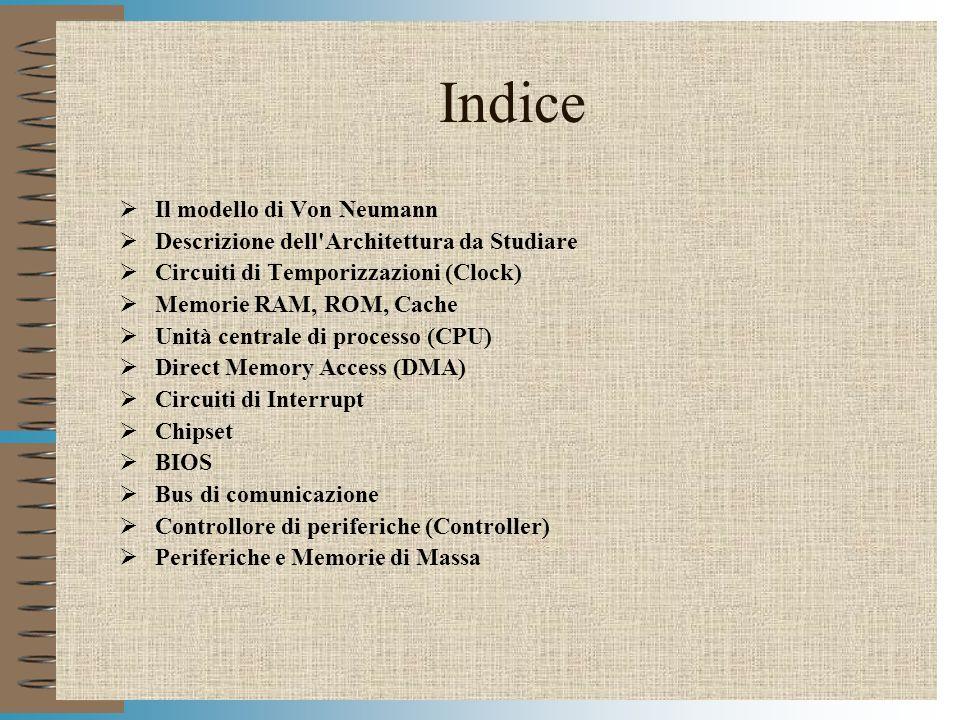 Modulo HWPC3 Il modello di Von Neumann CPU INTERFACCIA I/O PERIFERICHE MEMORIA CENTRALE