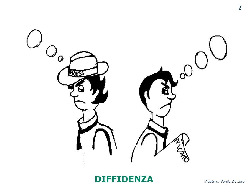 2 DIFFIDENZA Relatore: Sergio De Luca