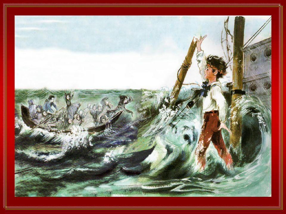 Tutti si guardavano, coi visi bianchi. Il mare infuriava sempre, orrendo. Il bastimento rullava pesantemente. A un dato momento il capitano tentò di l