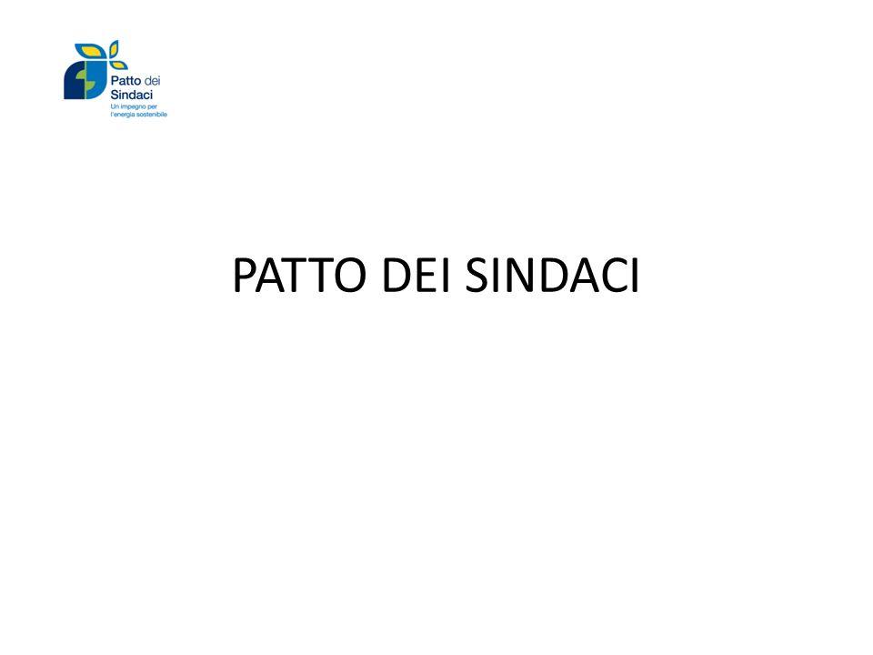 PATTO DEI SINDACI