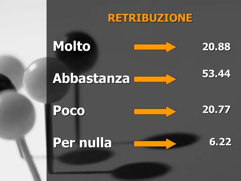 RETRIBUZIONE MoltoAbbastanzaPoco 20.8853.44 20.77 6.22