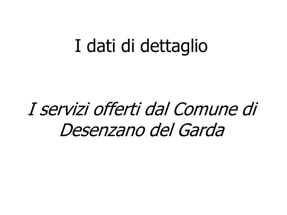 I dati di dettaglio I servizi offerti dal Comune di Desenzano del Garda