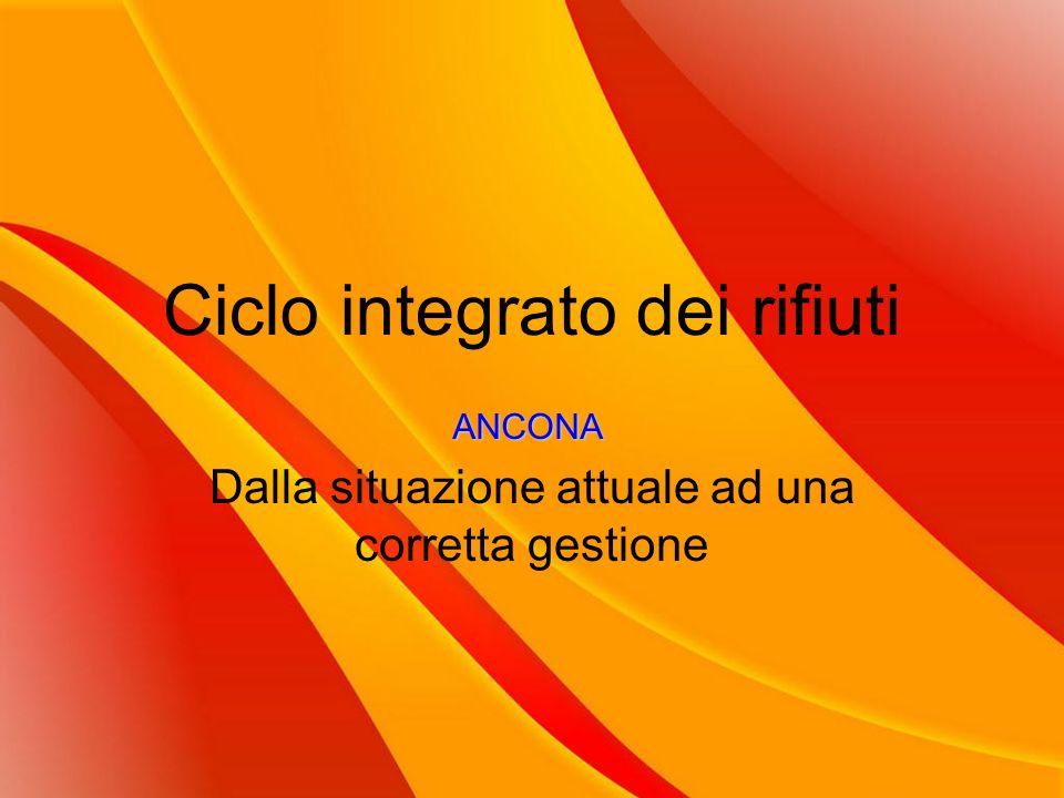 Ciclo integrato dei rifiuti Dalla situazione attuale ad una corretta gestione ANCONA
