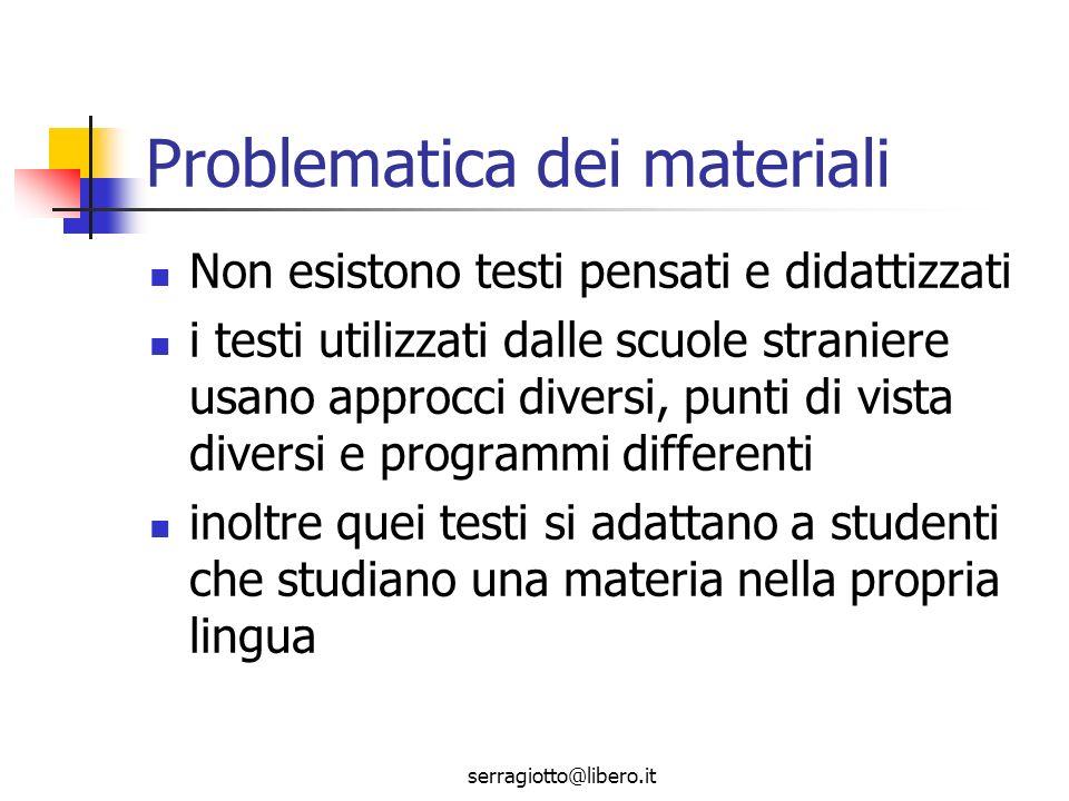 serragiotto@libero.it Obiettivo linguistico o contenuto.