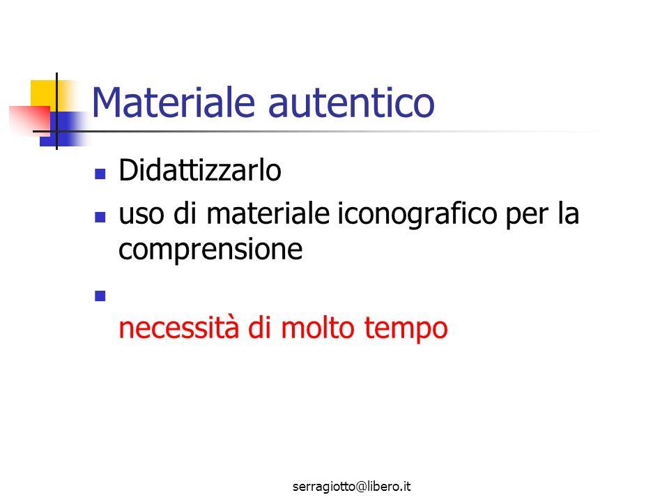 serragiotto@libero.it Didattizzare significa Rendere comprensibile linput attraverso una serie di attività didattiche utilizzo di elementi extralinguistici (materiale iconografico, grafici, diagrammi, schemi, ecc.) concetto di ridondanza