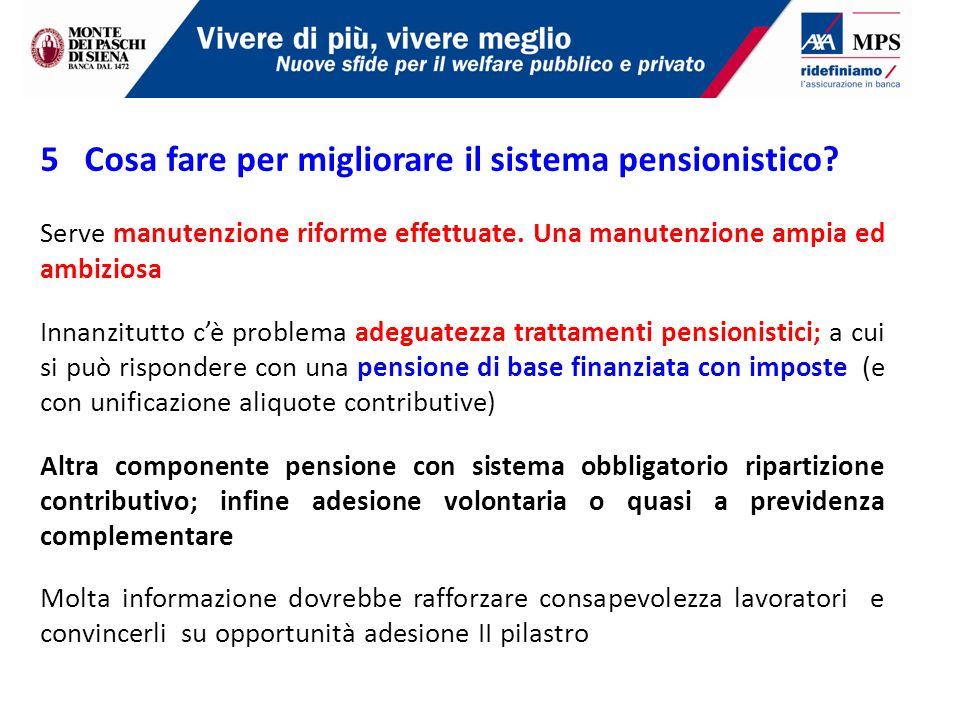 5 Cosa fare per migliorare il sistema pensionistico.
