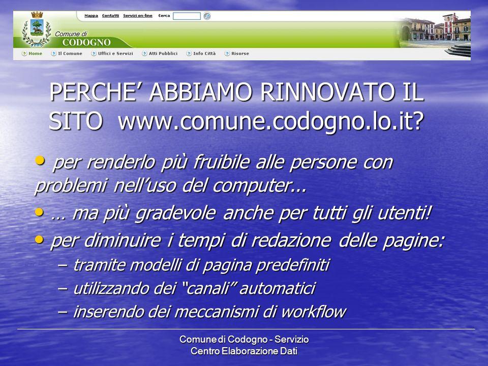Comune di Codogno - Servizio Centro Elaborazione Dati I RIFERIMENTI NORMATIVI Circolare CNIPA n.