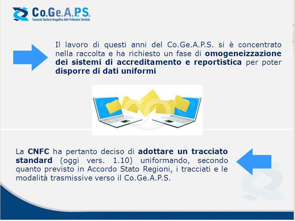 Il database Co.Ge.A.P.S.Il database Co.Ge.A.P.S.