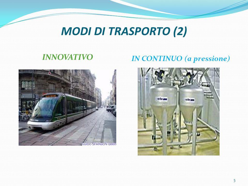 MODI DI TRASPORTO (2) INNOVATIVO IN CONTINUO (a pressione) 5