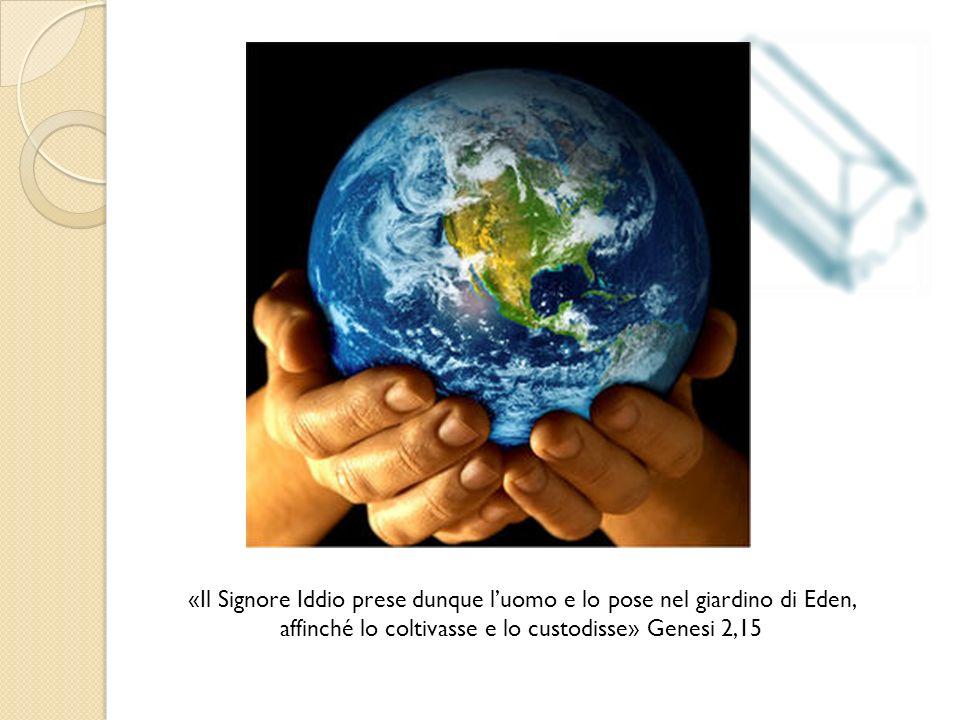 «Il Signore Iddio prese dunque luomo e lo pose nel giardino di Eden, affinché lo coltivasse e lo custodisse» Genesi 2,15