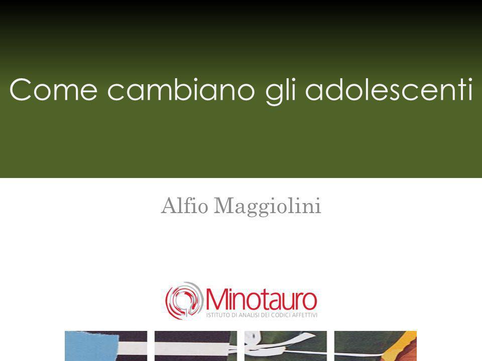 Come cambiano gli adolescenti Alfio Maggiolini