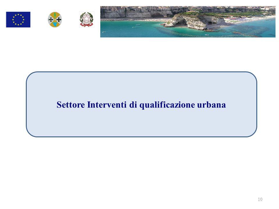 Settore Interventi di qualificazione urbana 10