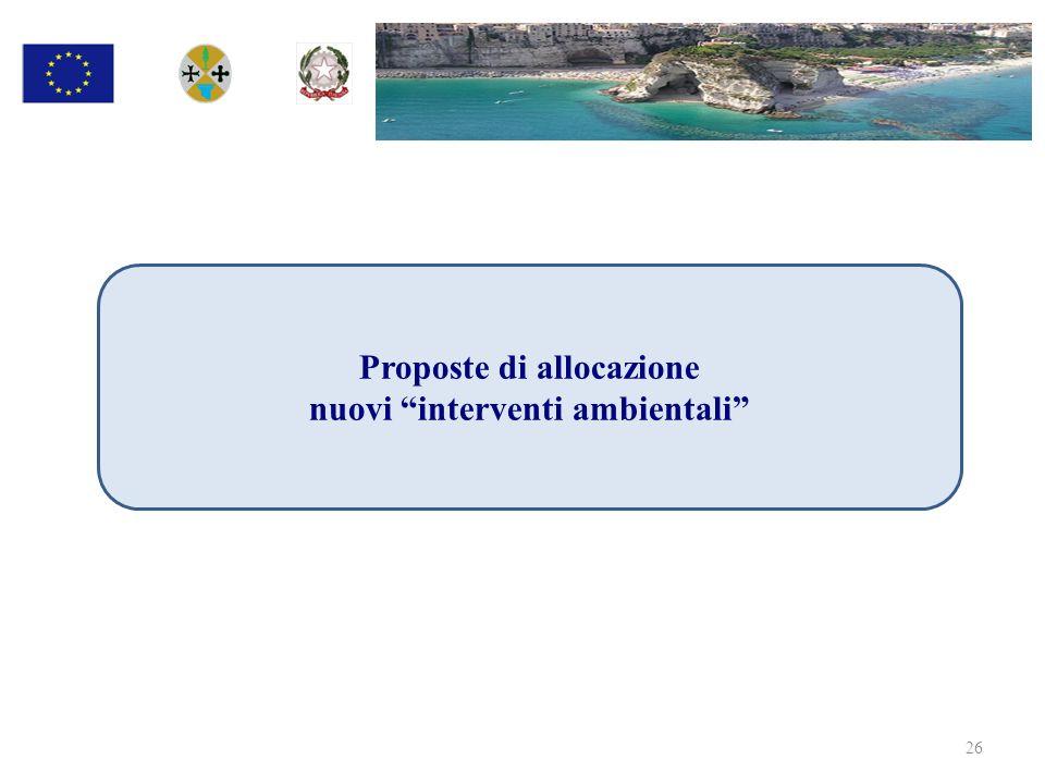 Proposte di allocazione nuovi interventi ambientali 26