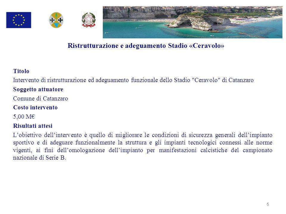 Nuovi Interventi ambientali per settore 27 Settore Importo (in M) Difesa Suolo ed Erosione Costiera38,2 Dissesto idrogeologico30,0 Totale68,2