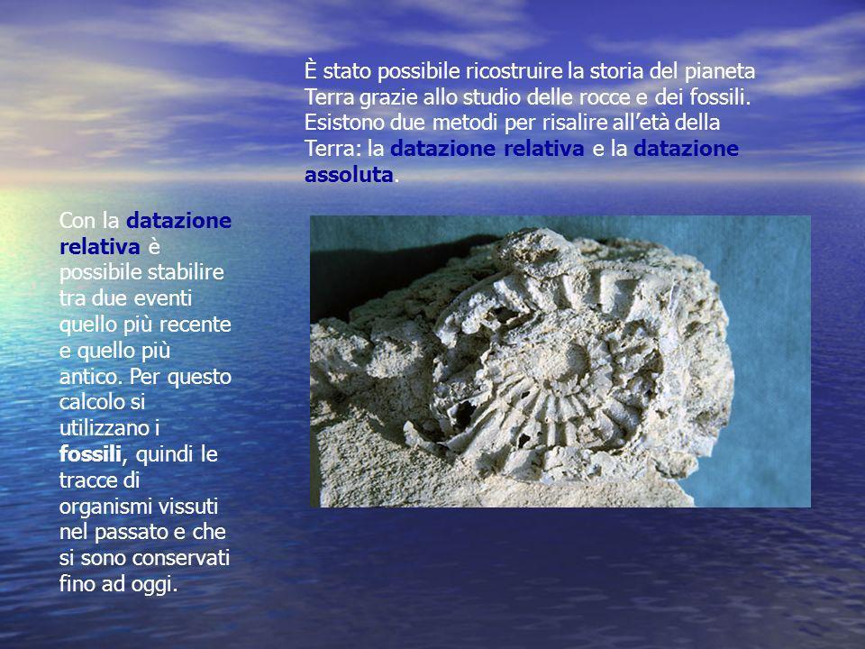 È stato possibile ricostruire la storia del pianeta Terra grazie allo studio delle rocce e dei fossili. Esistono due metodi per risalire alletà della