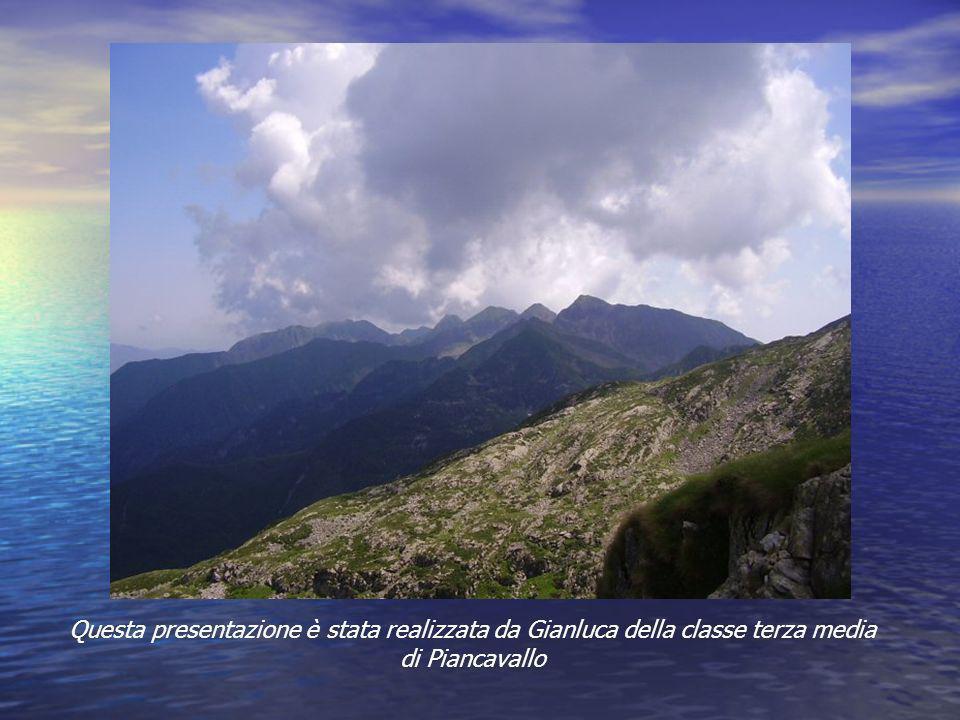Questa presentazione è stata realizzata da Gianluca della classe terza media di Piancavallo