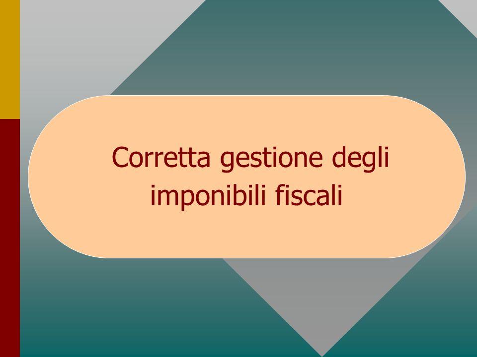 Corretta gestione degli imponibili fiscali