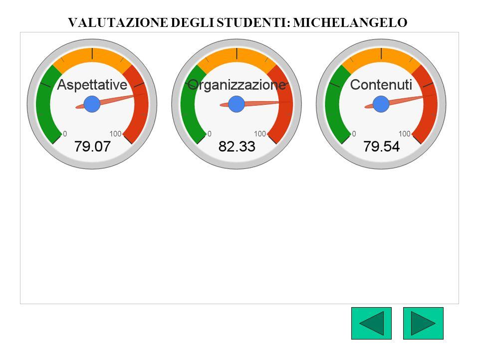 VALUTAZIONE DEGLI STUDENTI: MICHELANGELO