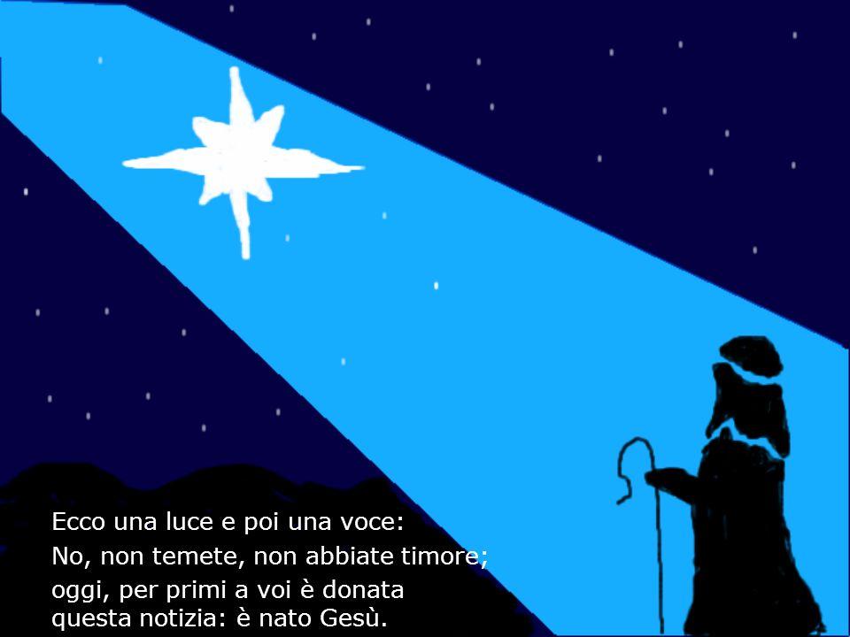 Ecco una luce e poi una voce: No, non temete, non abbiate timore; oggi, per primi a voi è donata questa notizia: è nato Gesù.