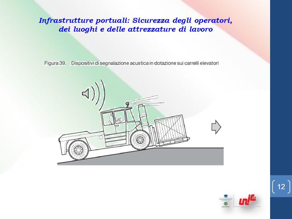 11 Infrastrutture portuali: Sicurezza degli operatori, dei luoghi e delle attrezzature di lavoro