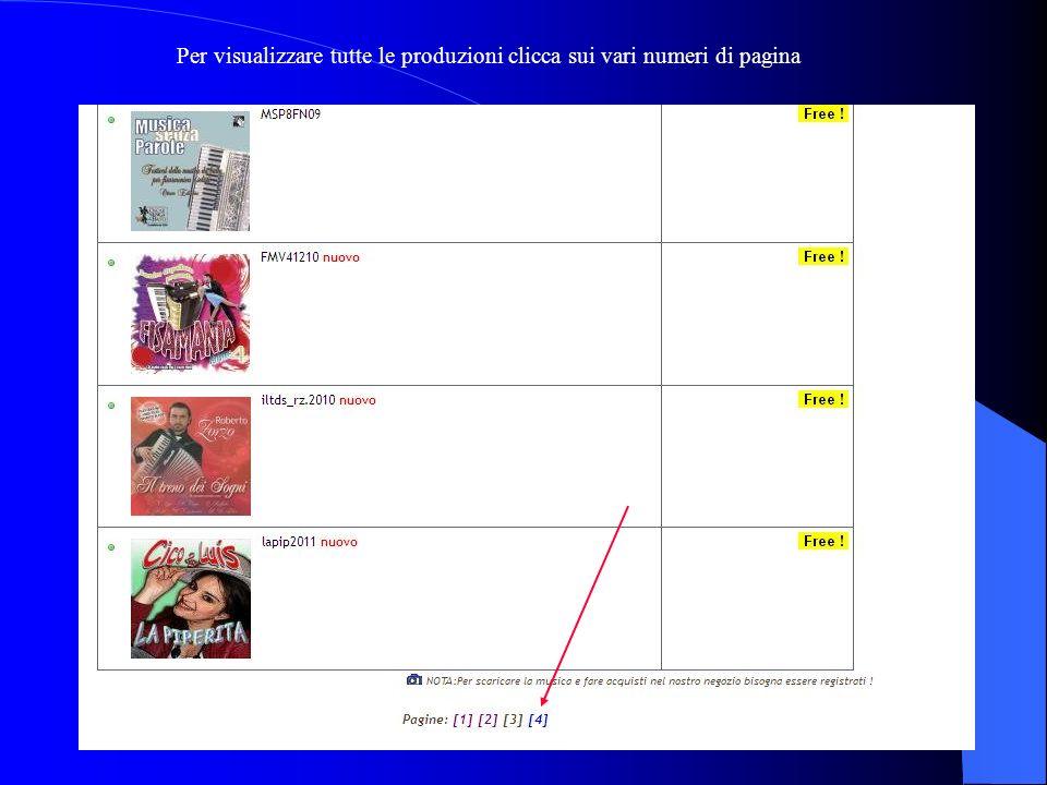 Clicca su Free... si aprirà una pagina con la lista dei prodotti. Per visualizzare tutti gli album devi cliccare su free...
