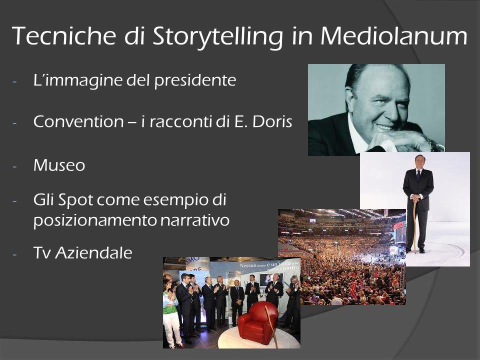 - Limmagine del presidente Tecniche di Storytelling in Mediolanum - Convention – i racconti di E. Doris - Gli Spot come esempio di posizionamento narr
