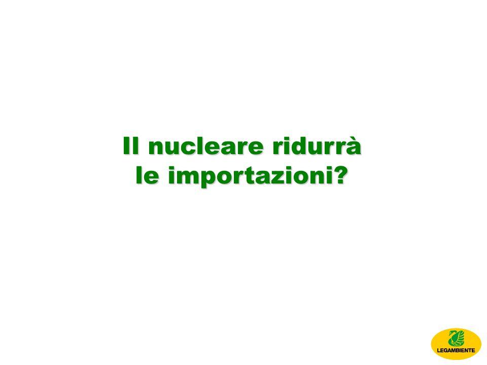 Il nucleare ridurrà le importazioni