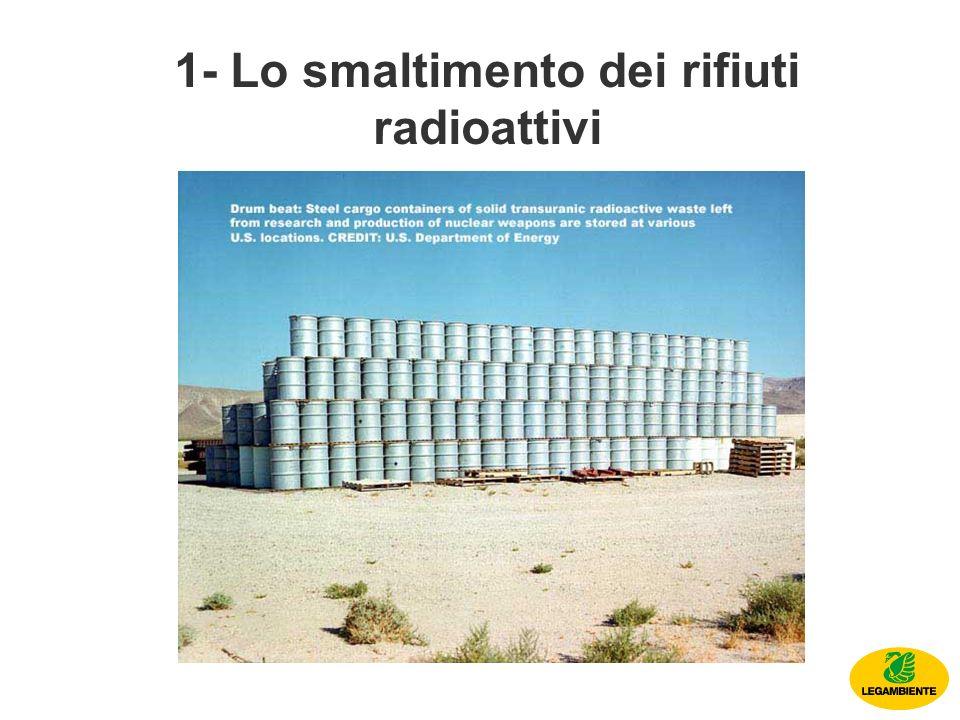 1- Lo smaltimento dei rifiuti radioattivi