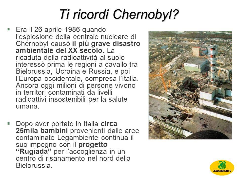 Ti ricordi Chernobyl.