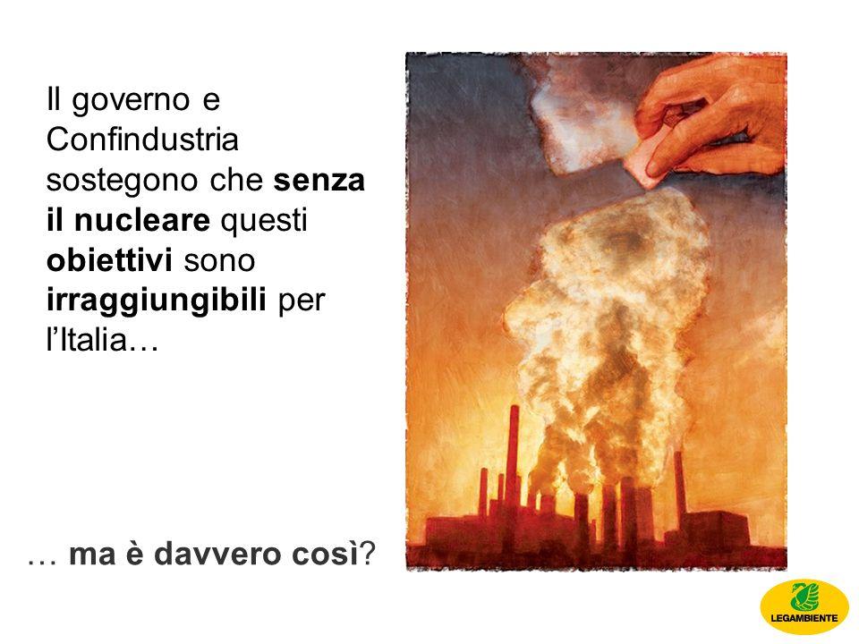 Il governo e Confindustria sostegono che senza il nucleare questi obiettivi sono irraggiungibili per lItalia… … ma è davvero così