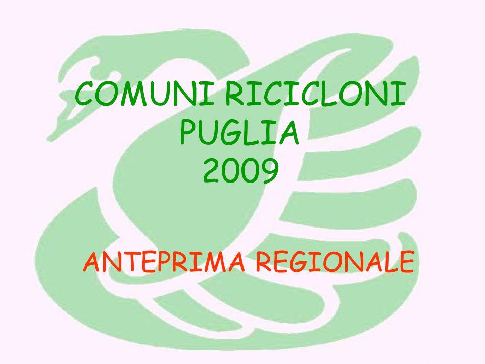 COMUNI RICICLONI PUGLIA 2009 ANTEPRIMA REGIONALE