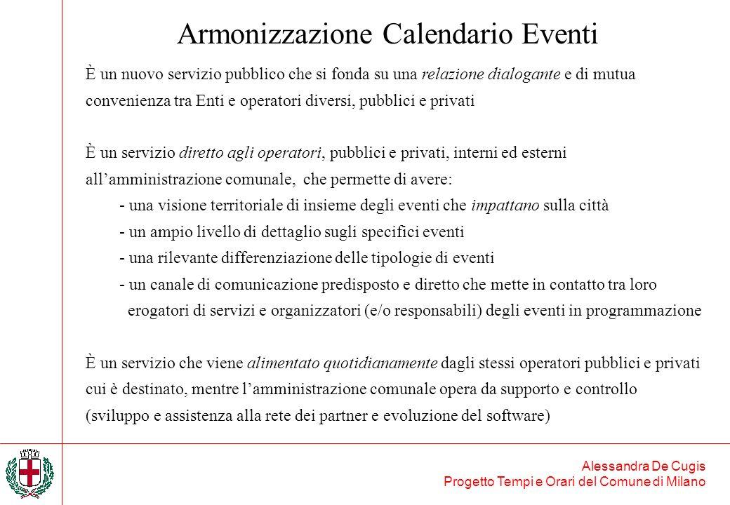 Alessandra De Cugis Progetto Tempi e Orari del Comune di Milano È un nuovo servizio pubblico che si fonda su una relazione dialogante e di mutua conve