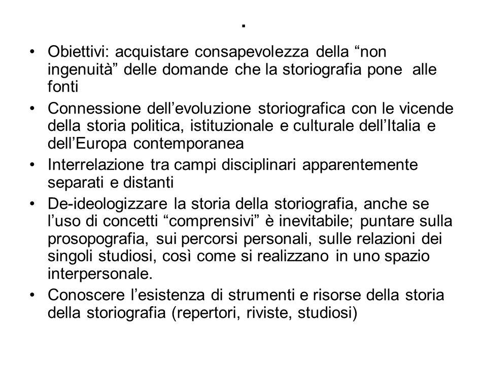 Diversità dellimpianto degli studi su questi temi in Italia Taglio idealistico e concettuale.